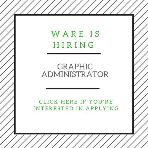 Ware is hiring
